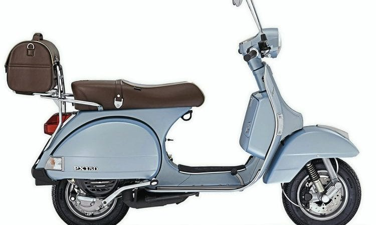 vespa px 150 70th anniversary on2wheels. Black Bedroom Furniture Sets. Home Design Ideas